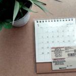 【無印良品】シンプルで部屋に馴染む 2019年卓上カレンダーが機能的で使いやすい
